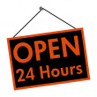Open all day sign — Stockfoto #9384742