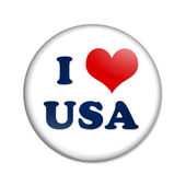I love USA button — Stock Photo