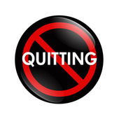 No Quitting button — Stock Photo