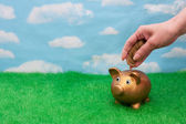 Adding a lot to you savings account — Stock Photo