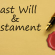 Getting a last will and testament - Stock Photo