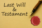 Getting a last will and testament — Stock Photo