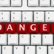 Danger on the internet — Stock Photo