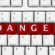 Danger on the internet - Stock Photo