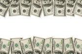 Money Border of hundred dollar bills — Stock Photo