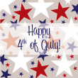 Happy 4th of July! — Vettoriale Stock