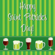Royalty-Free Stock Vector Image: Happy Saint Patrick&#039;s Day beer card