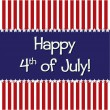 Happy 4th of July! — Stock vektor