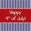 Happy 4th of July! — Vector de stock  #10254791
