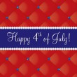 Happy 4th of July! — Vettoriali Stock
