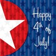Happy 4th of July! — Vector de stock  #10254894
