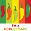 Cinco de Mayo chili pepper greeting cards in vector format. — Stock Vector #10255061