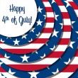 Happy 4th of July! — Vector de stock  #10255085