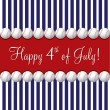 Baseball theme 4th of July card in vector format. — Stock vektor