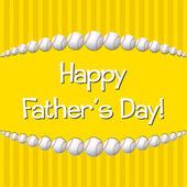 Día de padre feliz! — Vector de stock