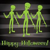'Happy Halloween'' sticker card in vector format. — Stock Vector