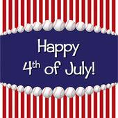Glücklich juli 4! — Stockvektor