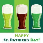 Happy Saint Patrick's Day beer card in vector format. — Stock Vector
