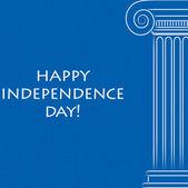 Felice giorno dell'indipendenza di carta per la grecia in formato vettoriale. — Vettoriale Stock