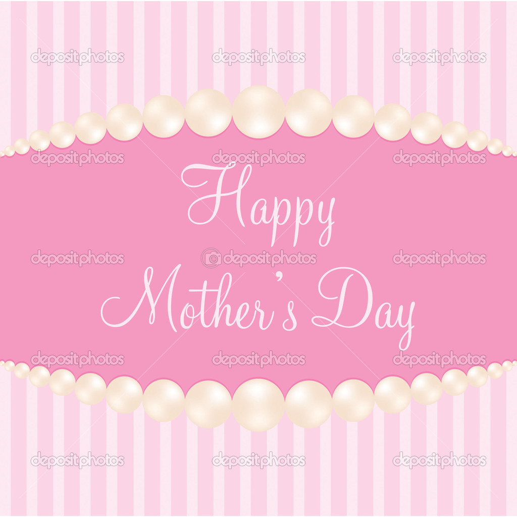 Pearl theme Mother's Day Card in Vector Format. — Stock Vector #10253286