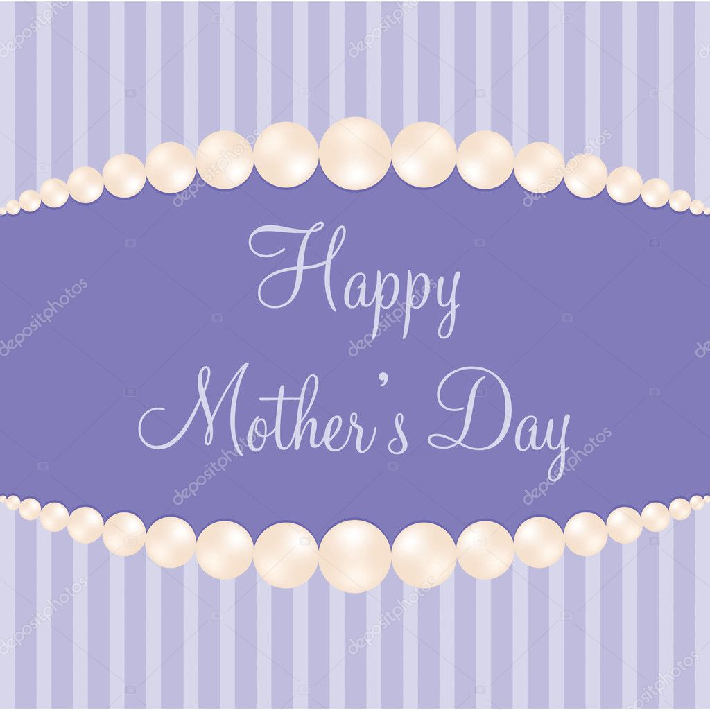 Pearl theme Mother&#039;s Day Card in Vector Format.  Stock Vector #10253302