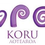 A set of glass Maori Koru curl ornaments. — Stock Vector