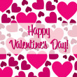 Royalty-Free Stock Vector Image: Happy Valentine's Day red heart scatter card in vector format.
