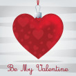 Bright 'Be My Valentine' card in vector format. — Imagen vectorial