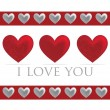 Love heart valentine's day cards in vector format — Imagen vectorial