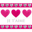 Love heart valentine's day cards in vector format — Image vectorielle