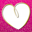 Bright hand drawn heart card in vector format. — Imagen vectorial