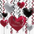Happy Valentine's Day balloon card in vector format. — Stockvectorbeeld