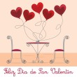 Royalty-Free Stock Immagine Vettoriale: Cafe Valentine's Day Card