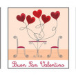 Cafe Valentine's Day Card — Stockvectorbeeld