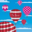 """I Love You"" hot air balloons in Spanish — Imagen vectorial"