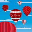"""I Love You"" hot air balloons in French — Imagen vectorial"