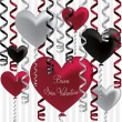 Italian Happy Valentine's Day balloon card in vector format. — Imagen vectorial