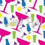 Bright cocktail Invitation card in vector format. — Stock Vector #10267693
