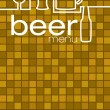 Stock Vector: Beer menu in vector format.