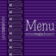 Stock Vector: Retro inspired menu with a modern touch in vector format.