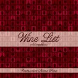 Stock Vector: Retro inspired wine list with modern touch in vector format.