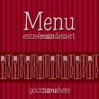 Stock Vector: Retro inspired menu with modern touch in vector format.