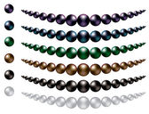 Black South Sea Pearls — Stock Vector