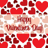 Happy Valentine's Day. red heart scatter card in vector format. — 图库矢量图片