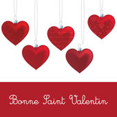 French 'Happy Valentine's Day' heart card in vector format. — Vector de stock
