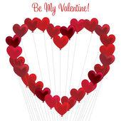 Μάτσο μπαλόνια καρδιά σε καρδιά σχηματισμό σε διανυσματική μορφή. — Διανυσματικό Αρχείο