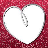 Ljusa hand dras hjärtat-kortet i vektorformat. — Stockvektor