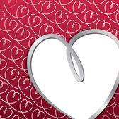 Carta di mano luminoso cuore disegnato in formato vettoriale. — Vettoriale Stock