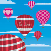 """I Love You"" hot air balloons in Spanish — Stock Vector"