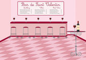 A French style Valentine's Day wine bar in vector format — Stock Vector